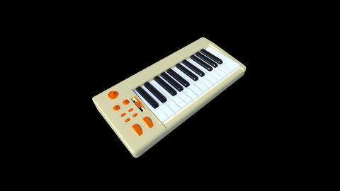 Music instrument - keyboard Stock Video Footage