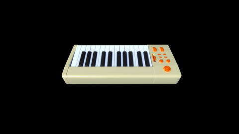 Music instrument - keyboard Animation