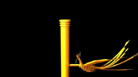 Golden Phoenix Pillar Stock Video Footage