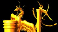 Golden Phoenix Pillar stock footage