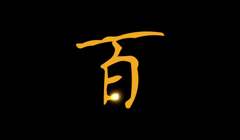 Chinese Word Hundred Animation