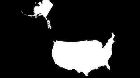 Globe Set10 - USA Matte Stock Video Footage