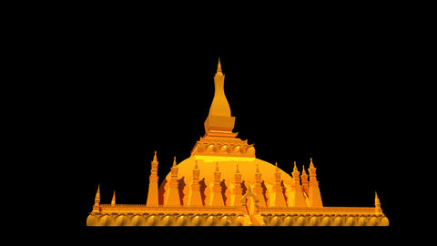 Laos - Pha That Luang Animation