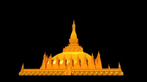 Laos - Pha That Luang Stock Video Footage