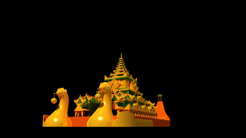 Myanmar - Karaweik Hall Stock Video Footage