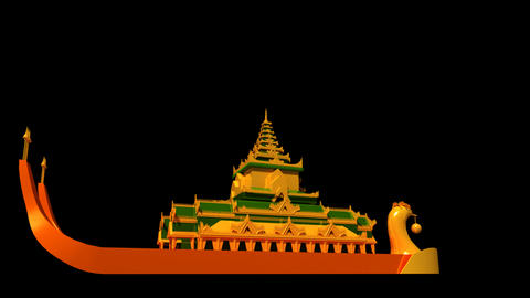 Myanmar - Karaweik Hall Animation
