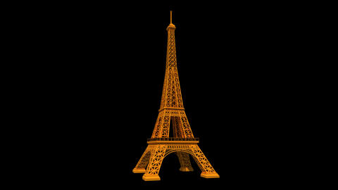 France - Eiffel Tower Animation