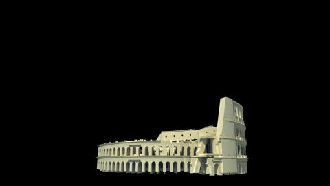 Italy - Roman Colosseum Stock Video Footage