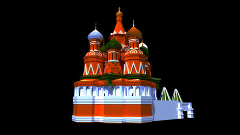 Russia - St Basil Cathedral Stock Video Footage