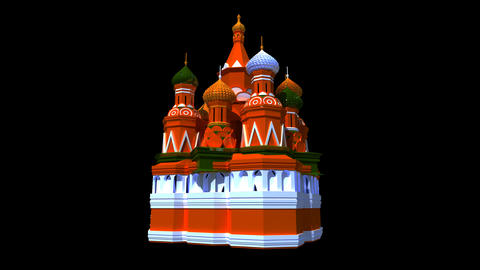 Russia - St Basil Cathedral Animation