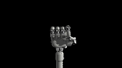 Robotic Hand No1 Stock Video Footage