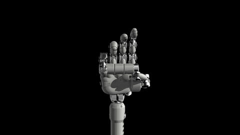 Robotic Hand No3 Stock Video Footage