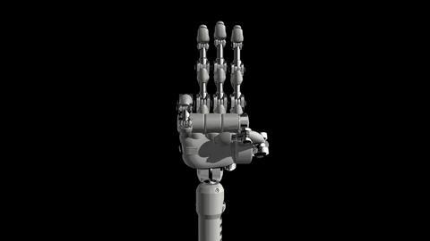 Robotic Hand No3 Stock Video Footage