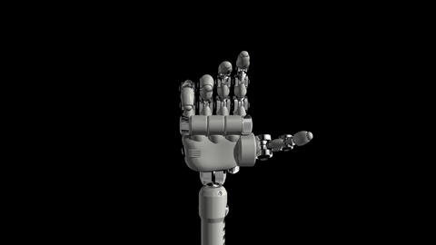 Robotic Hand No5 Stock Video Footage
