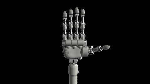 Robotic Hand No5 Stock Video Footage