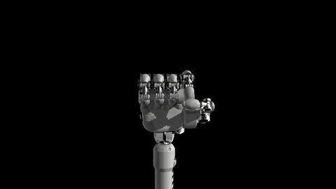 Robotic Hand No7 Stock Video Footage
