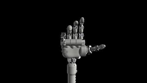 Robotic Hand No9 Stock Video Footage