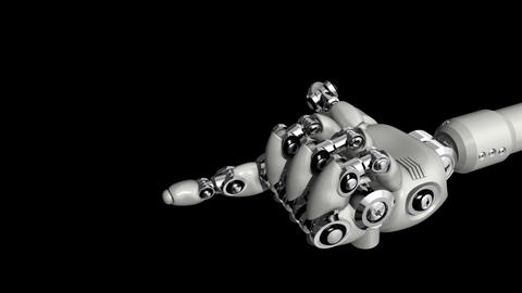 Robotic Hand Come Stock Video Footage