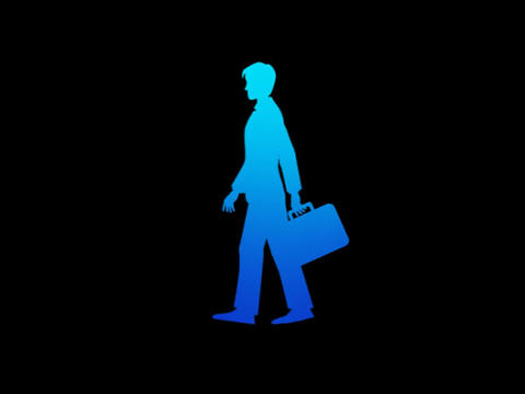 Silouette - Businessman Walk Animation