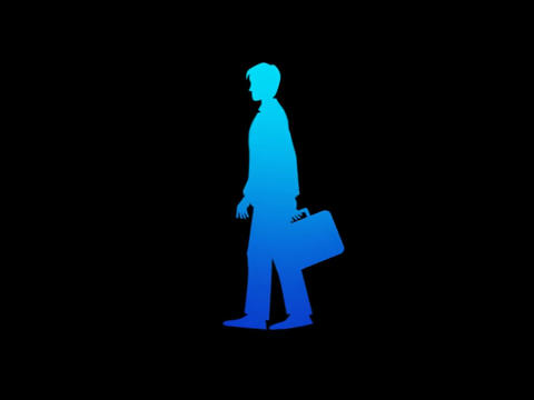 Silouette - Businessman Walk Stock Video Footage