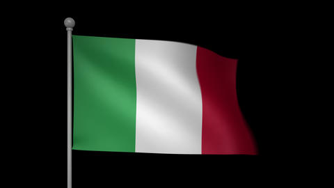 Italy Flag Stock Video Footage
