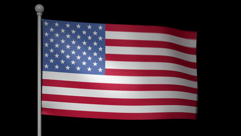 USA Flag Stock Video Footage