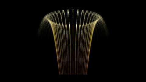 Water Fountain Flower Basket Stock Video Footage