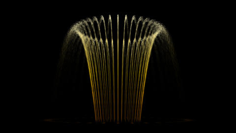Water Fountain Flower Basket Animation