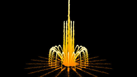 Water Fountain Motion Fireworks Stock Video Footage