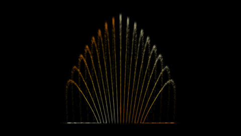 Water Fountain Peafowl Animation