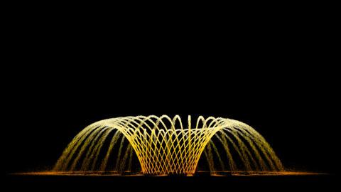 Water Fountain Spiral Flower Animation