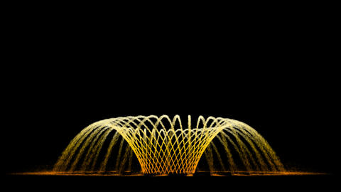 Water Fountain Spiral Flower Stock Video Footage