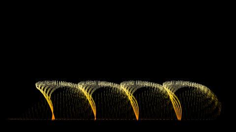 Water Fountain Turn Around Stock Video Footage