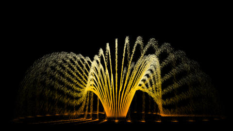 Water Fountain UFO run like flower Animation
