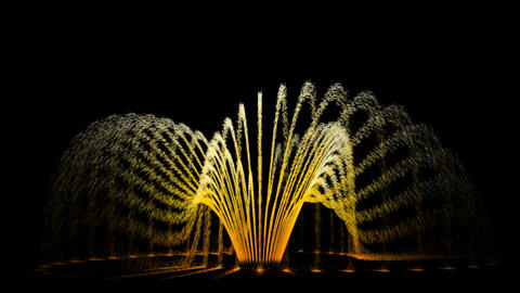 Water Fountain UFO run like flower Stock Video Footage