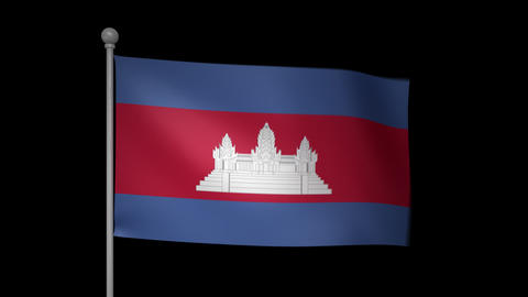 Cambodia Flag Animation