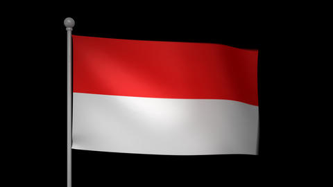 Indonesia Flag Animation