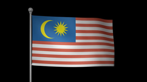Malaysia Flag Stock Video Footage