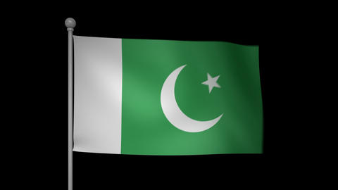 Pakistan Flag Stock Video Footage