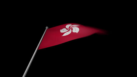 Hong Kong Flag Stock Video Footage