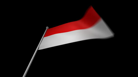 Indonesia Flag Stock Video Footage
