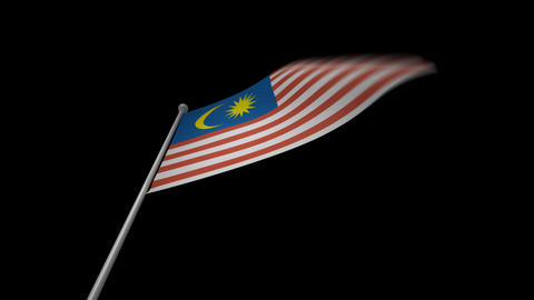 Malaysia Flag Stock Video Footage