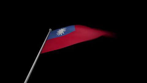 Taiwan Flag Stock Video Footage