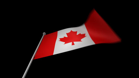Canada Flag Stock Video Footage