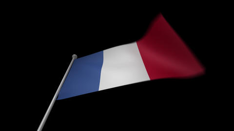 France Flag Stock Video Footage