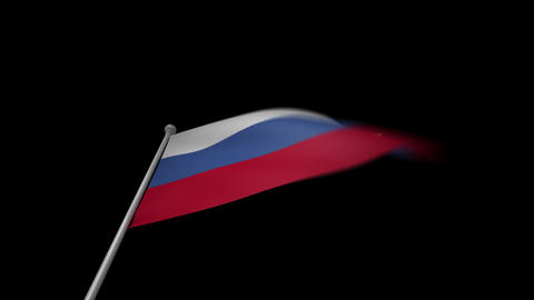 Russia Flag Stock Video Footage