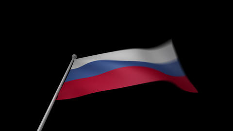 Russia Flag Animation