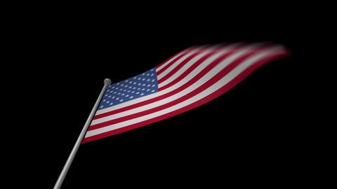 USA Flag Stock Video Footage