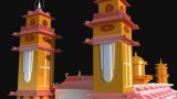 Vietnam - Cao Dai Holy See 3D Modell