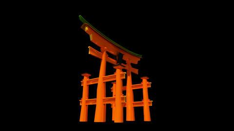 Japan - Miyajima - Itsukushima Shrine Torii